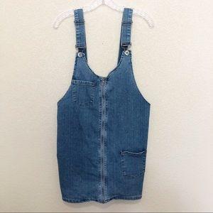 RUE 21 Denim Jean Overall Skirtall Dress